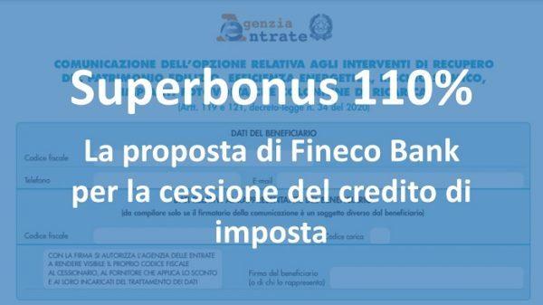 Cessione del credito: la proposta di Fineco Bank